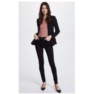 Ag Farrah High Waist Stretch Skinny Jeans Black